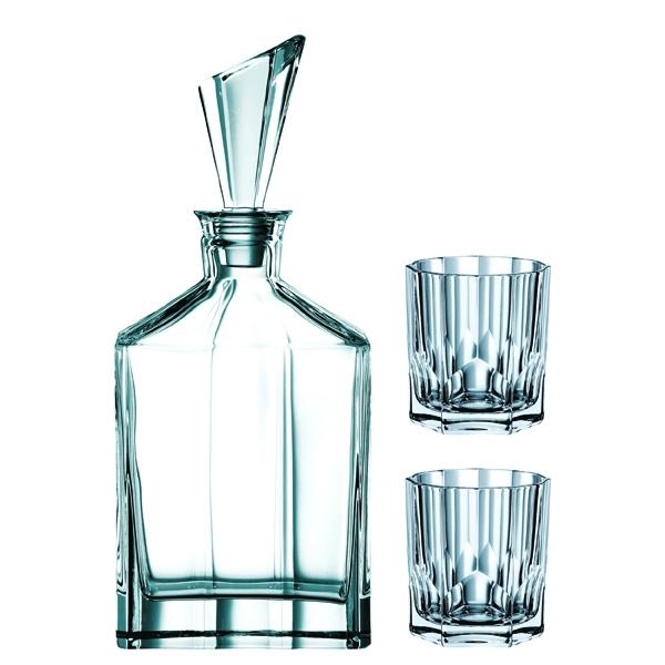 whiskey karaffel med glas